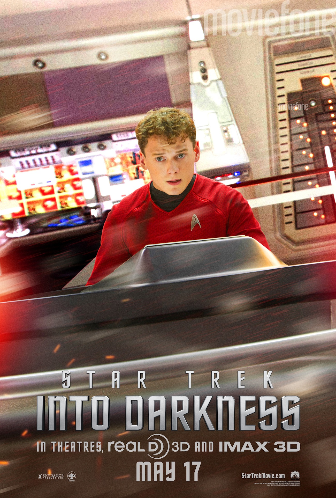 scotty and chekov get their own star trek into darkness posters