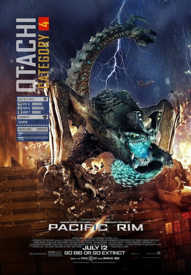 Robots Battle Monsters on New Pacific Rim Posters ... Pacific Rim Kaiju Stats