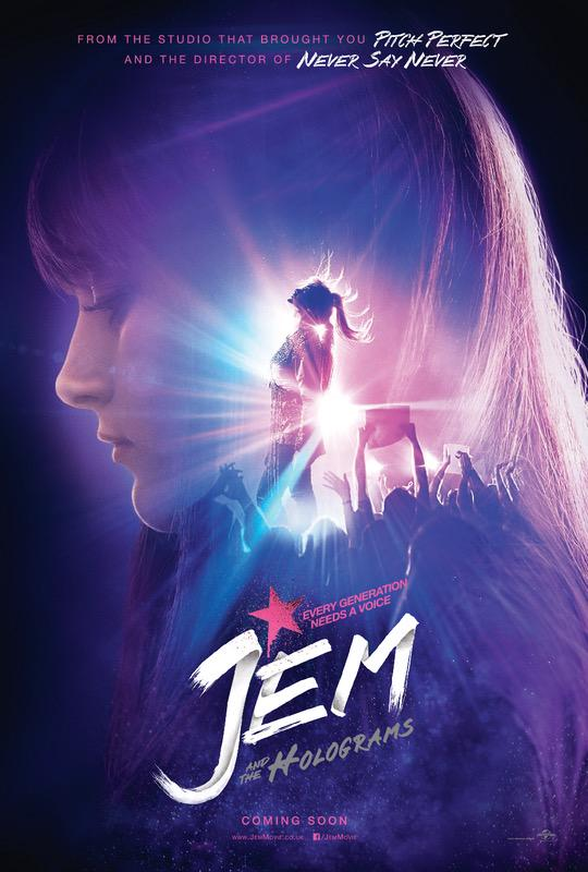 The Jem and the Holograms poster is here, offering a new look at the October 23 release directed by Justin Bieber: Never Say Never helmer Jon M. Chu.