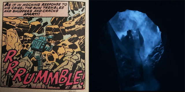 This just might have been a reference to Jack Kirby's 2001: A Space Odyssey comics!