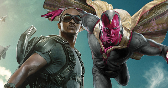 Paul Bettany and Anthony Mackie on Avengers' Vision and The Falcon.