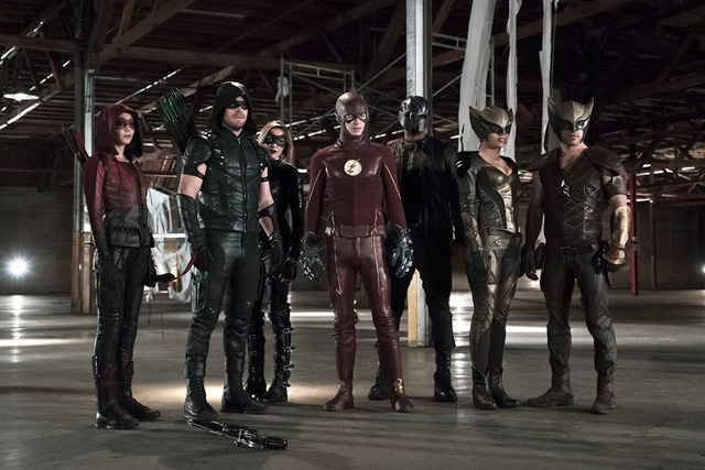 First Arrow and The Flash Crossover Photo.