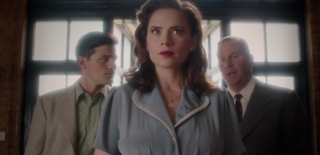 A new clip from next week's premiere of Marvel's Agent Carter season two has Hayley Atwell's Peggy Carter back in action! Catch the premiere January 19.