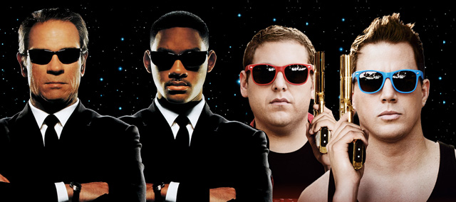 The 23 Jump Street Men in Black crossover feature film is happening as a new report suggests that Alice Through the Looking Glass' James Bobin will direct.