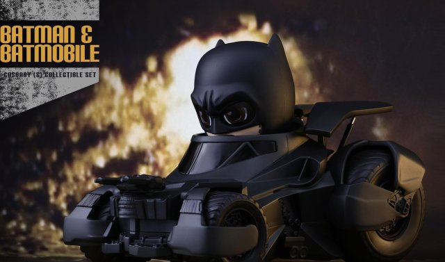 Turbines to Speed: Batman and Batmobile Cosbaby Figures Revealed