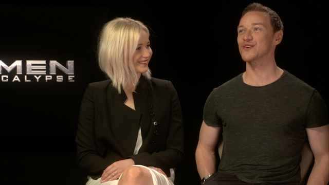 We chat with X-Men: Apocalypse stars Jennifer Lawrence and James McAvoy about this Friday's X-Men: Apocalypse and about the broader franchise X-Universe.