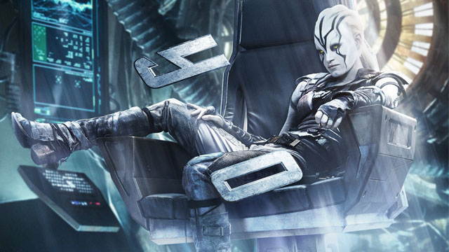 New star trek beyond poster features jaylah in command - Jaylah sofia boutella ...