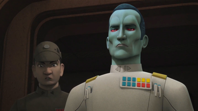"""Check out a new Star Wars Rebels clip featuring Timothy Zahn's Grand Admiral Thrawn! The """"legendary"""" character makes his debut in the season three premiere."""