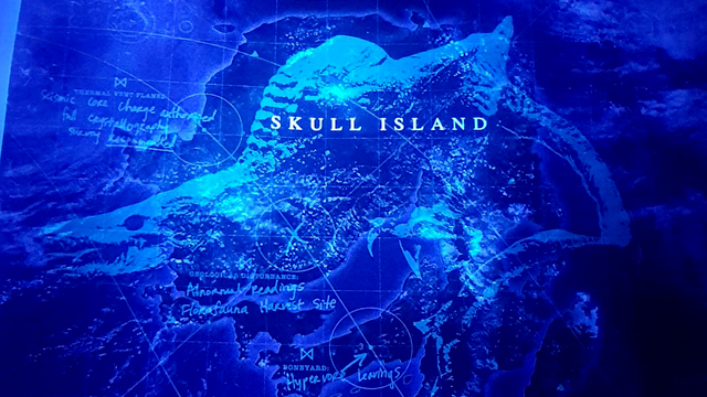 Warner Bros. Pictures and Legendary are shining a light on a new Kong: Skull Island monster. Check out photos from a new Monarch map of the island.