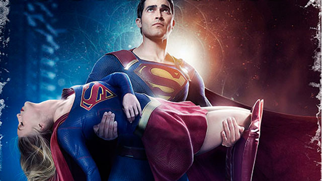 """A new poster for tonight's episode of Supergirl has arrived and it pays homage to the classic DC Comics universe-changing event """"Crisis on Infinite Earths""""."""