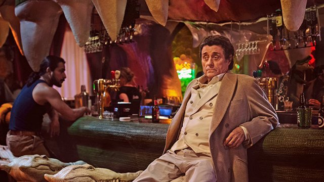 Check out a new American Gods clip that introduces Ian McShane as the enigmatic Mr. Wednesday. The series premieres on Starz Sunday, April 30.