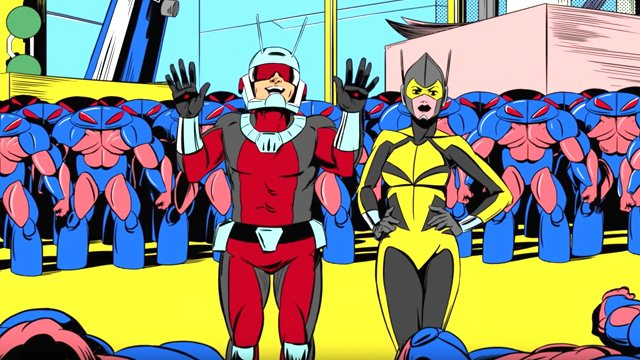"""Check out the first three animated Ant-Man shorts, """"Soup Time,"""" """"Science Fair,"""" and """"Alien Invasion"""" and catch the next three on Disney XD this weekend."""