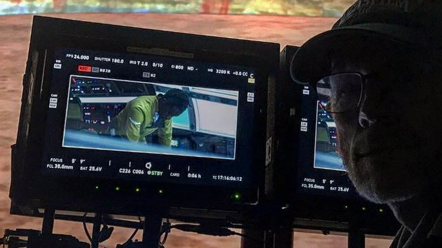 Is this our first look at Donald Glover as Lando Calrissian from the upcoming untitled Han Solo Star Wars Story? Check out the photo shared by Ron Howard.