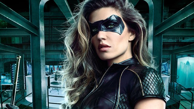 Take a first look at Juliana Harkav in the new Black Canary costume as her Dinah Drake makes her costumed debut for The CW's upcoming Arrow season six.