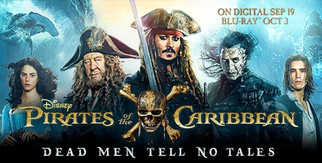 Pirates Of The Caribbean Digital 4k Ultra And Blu Ray Release