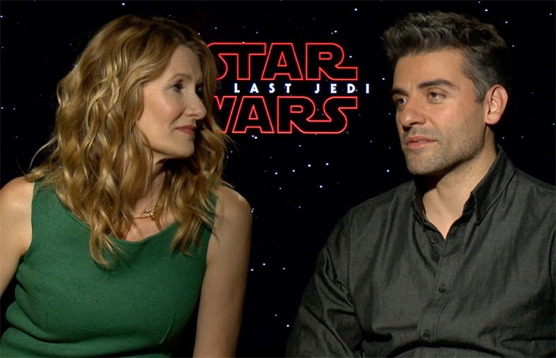 We talked to Oscar Isaac, Laura Dern and Kelly Marie Tran about starring in Star Wars: The Last Jedi, coming to theaters on December 15, 2017.