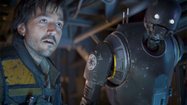 'Rogue One' Disney+ series won't feature K-2SO, at first anyway