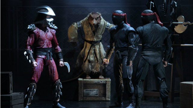 Neca S Sdcc Exclusive Tmnt 1990 4 Pack With Shredder And Splinter