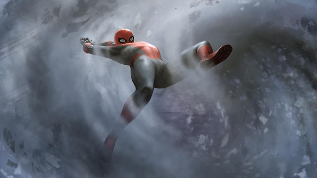 Spider-Man Escapes Iron Man Zombies in Far From Home Concept Art