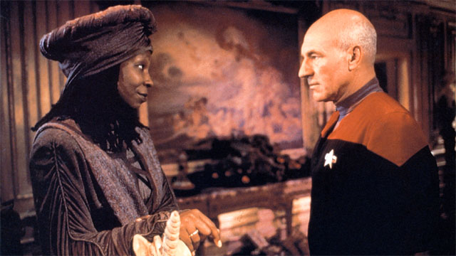 Patrick Stewart invites Whoopi to return to 'Star Trek'