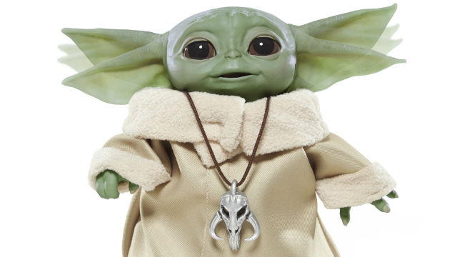 Hasbro's Baby Yoda Animatronic is Too Cute