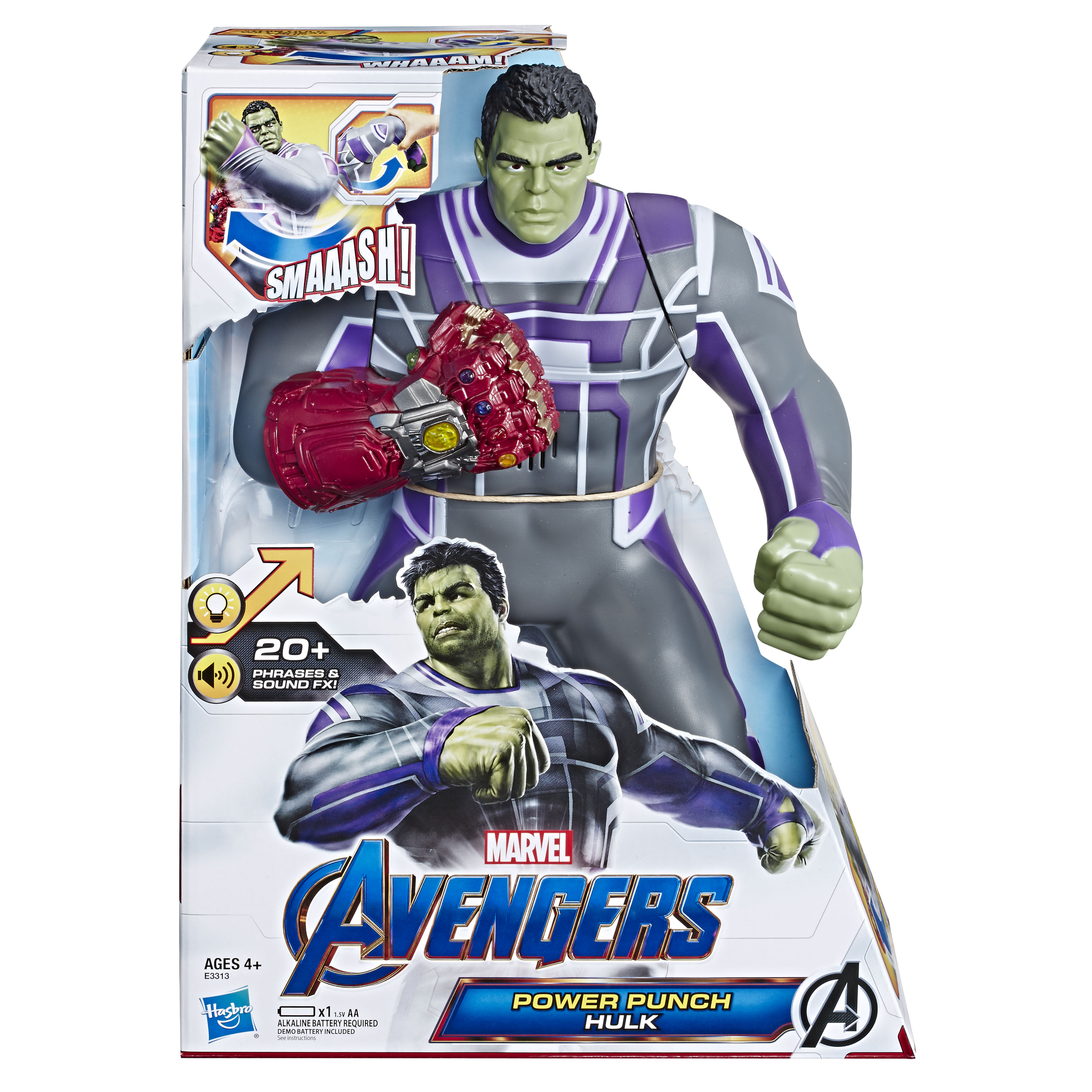 14-inch Power Punch Hulk in-package