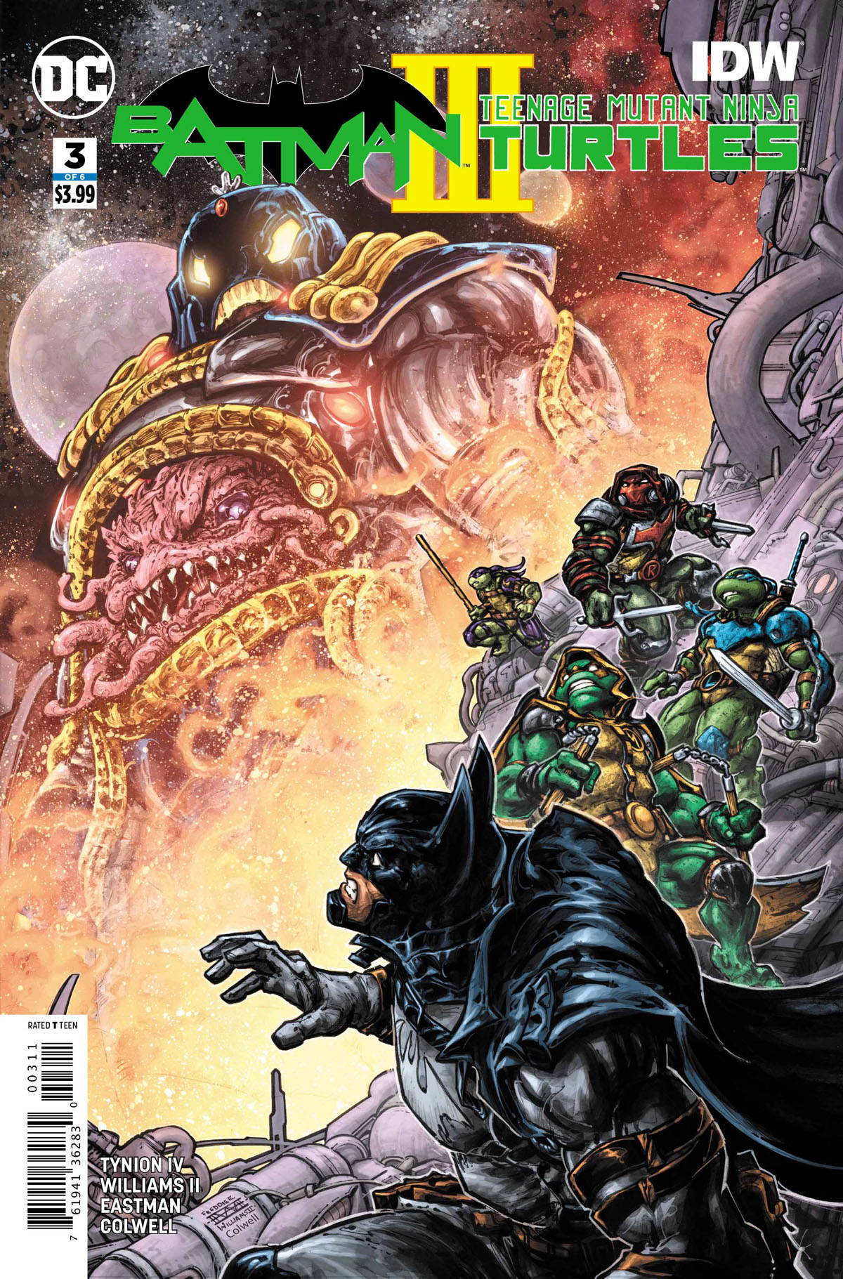 Batman/Teenage Mutant Ninja Turtles III #3 cover