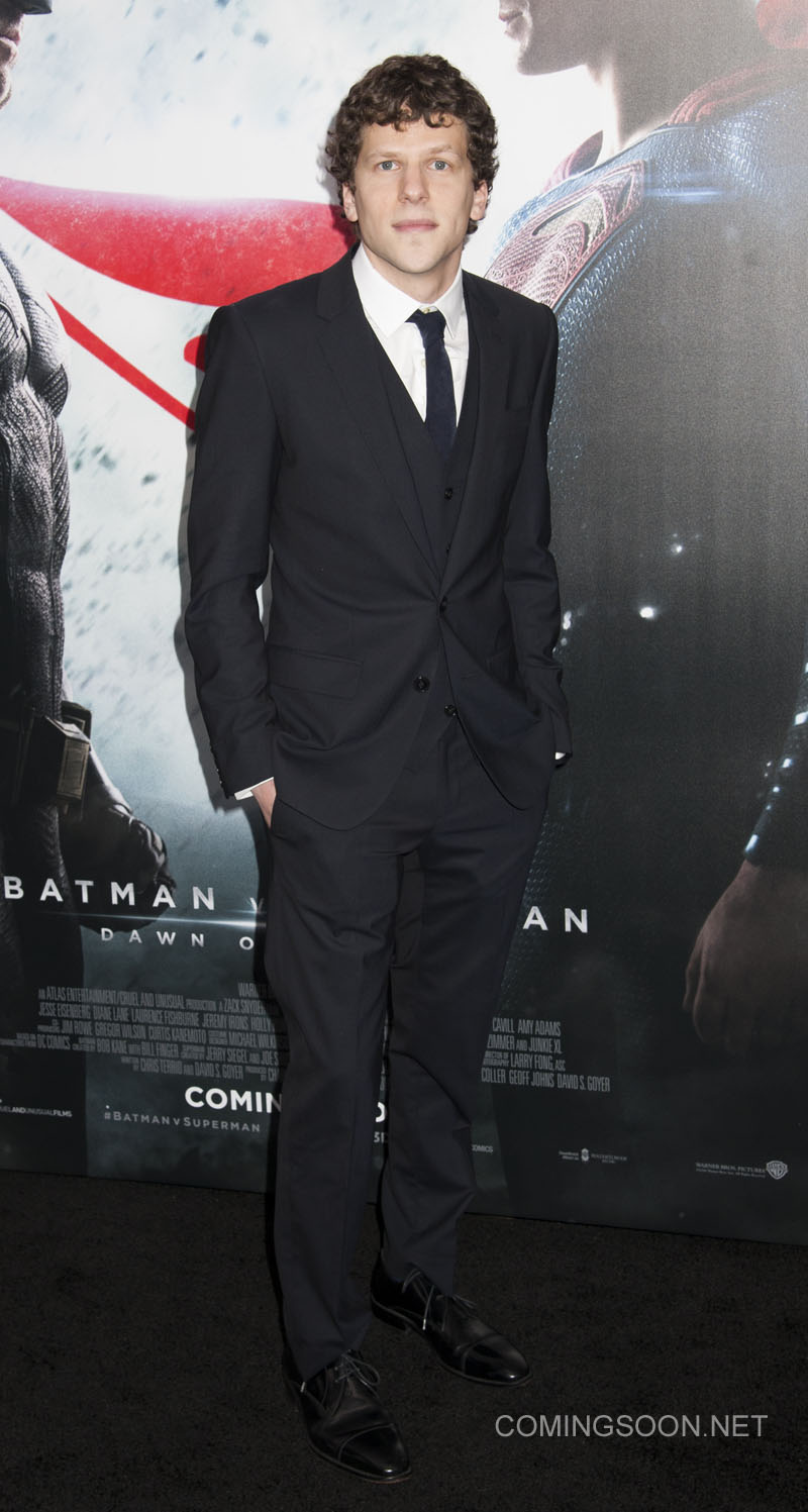 NY Premiere of Batman vs Superman Dawn of Justice Featuring: Jesse Eisenberg Where: New York, New York, United States When: 21 Mar 2016 Credit: WENN.com