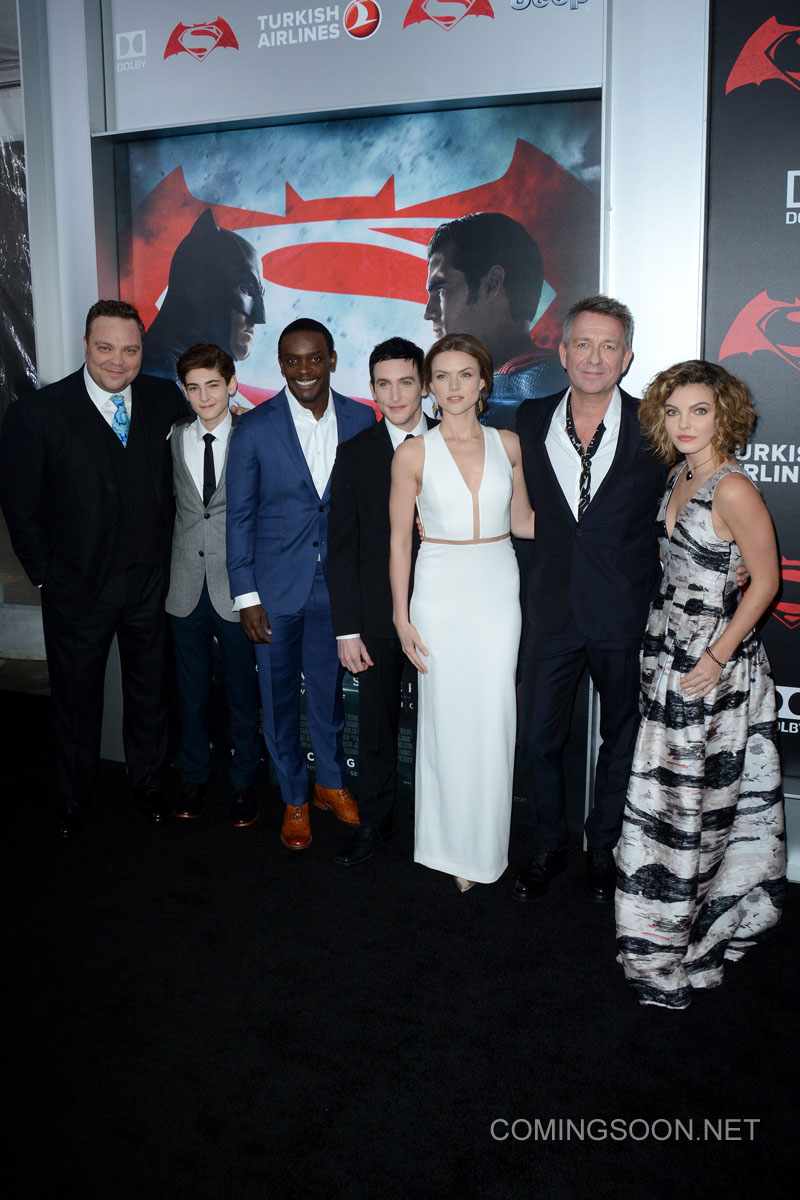 """New York premiere of Warner Bros. Pictures' 'Batman v Superman: Dawn of Justice' at Radio City Music Hall - Arrivals Featuring: The Cast of """"Gotham"""" Where: New York, United States When: 20 Mar 2016 Credit: Ivan Nikolov/WENN.com"""