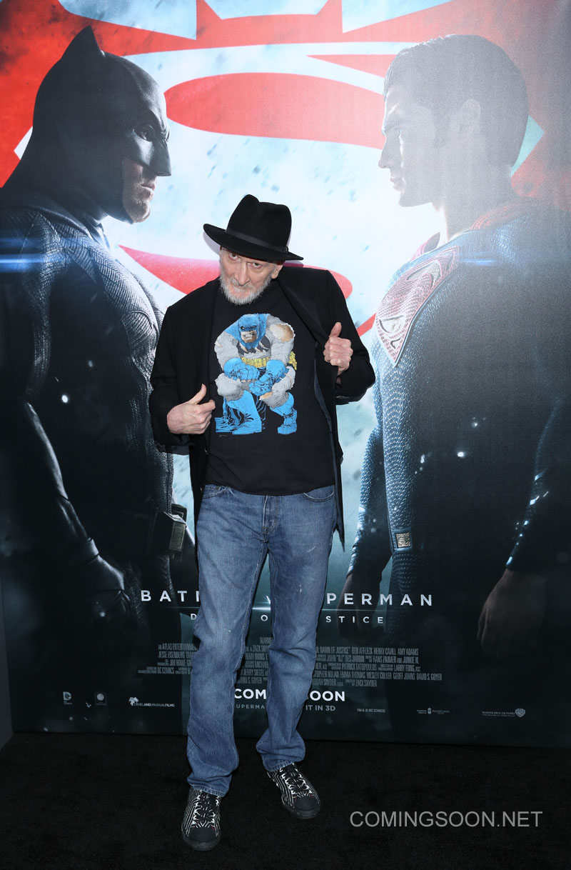 New York premiere of Warner Bros. Pictures' 'Batman v Superman: Dawn of Justice' at Radio City Music Hall - Arrivals Featuring: Frank Miller Where: New York, United States When: 20 Mar 2016 Credit: Andres Otero/WENN.com
