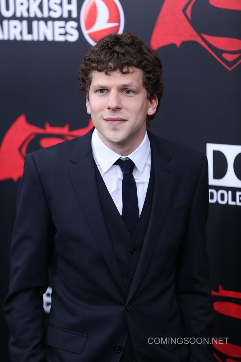 New York premiere of Warner Bros. Pictures' 'Batman v Superman: Dawn of Justice' at Radio City Music Hall - Arrivals Featuring: Jesse Eisenberg Where: New York, United States When: 20 Mar 2016 Credit: Andres Otero/WENN.com