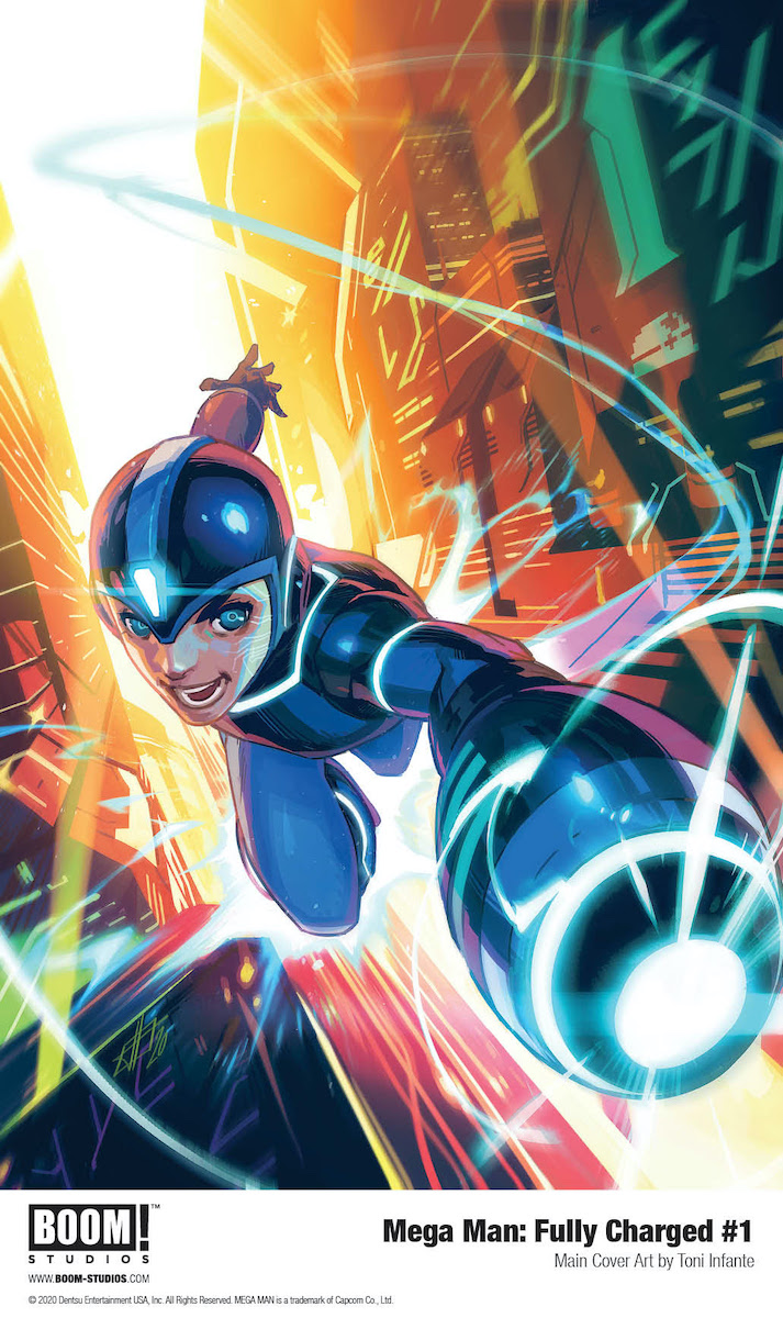 Mega Man: Fully Charged #1 Cover by Toni Infante