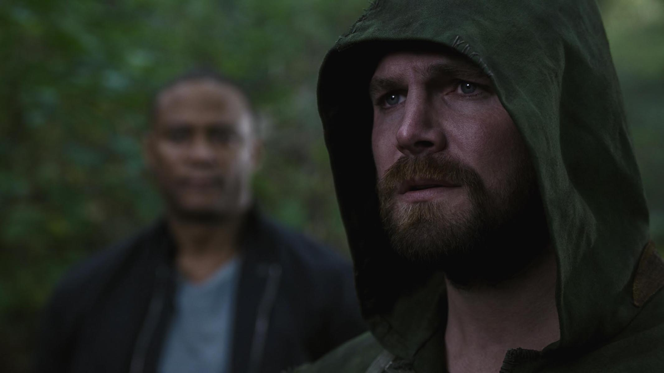 David Ramsey as John Diggle/Spartan and Stephen Amell as Oliver Queen/Green Arrow