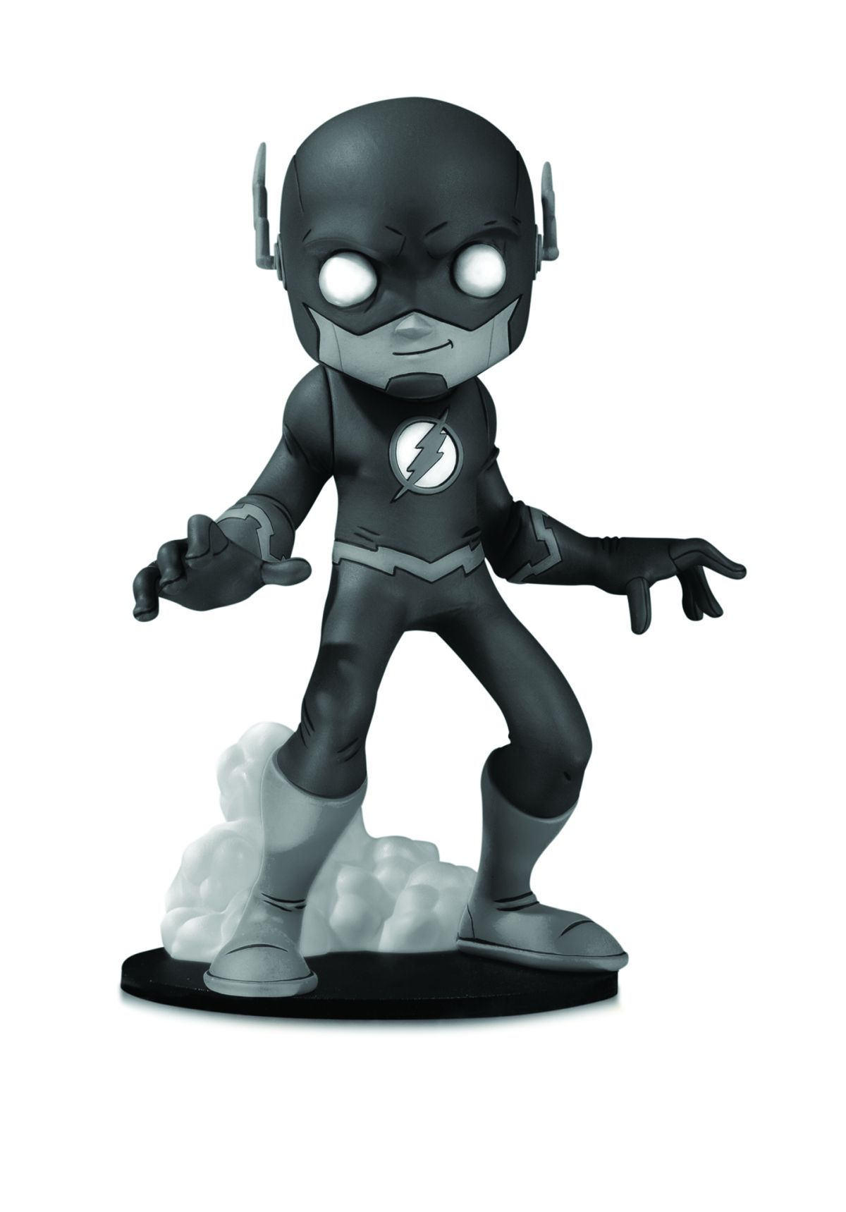 DC ARTISTS ALLEY: THE FLASH BY CHRIS UMINGA BLACK AND WHITE VARIANT FIGURE DESIGNER VINYL FIGURE