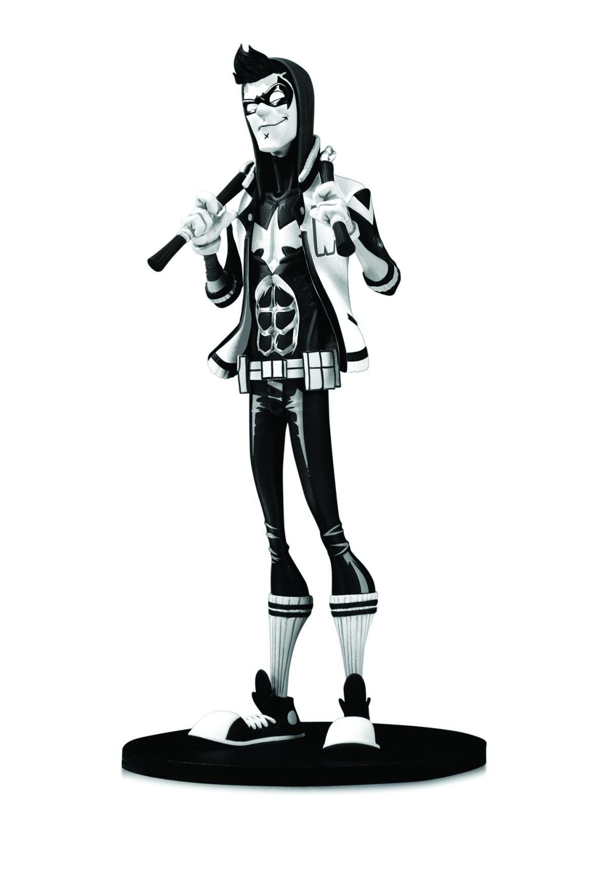 """DC ARTISTS ALLEY: NIGHTWING BY HAINANU """"NOOLIGAN"""" SAULQUE BLACK AND WHITE VARIANT FIGURE DESIGNER VINYL FIGURE"""