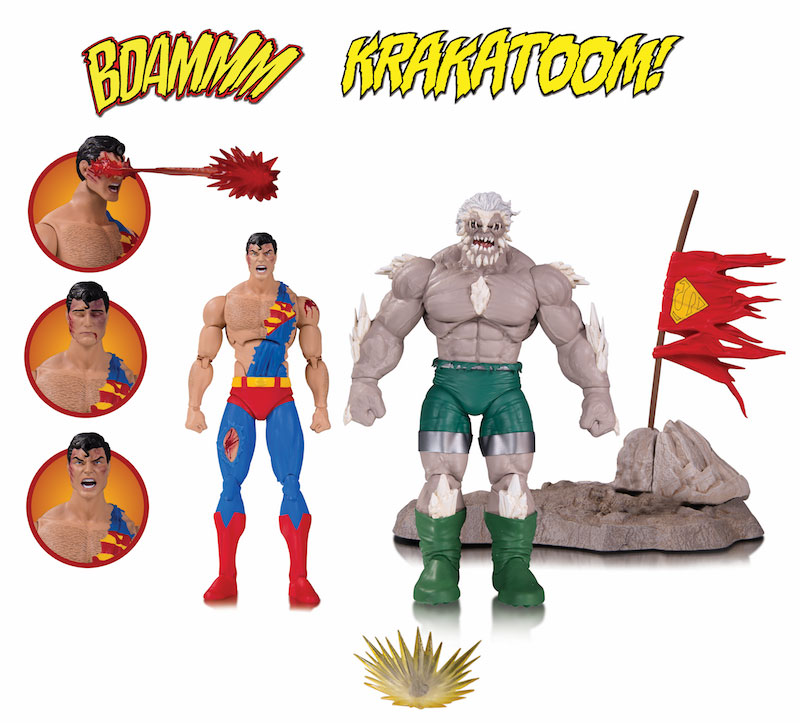 DC ICONS: THE DEATH OF SUPERMAN ACTION FIGURE 2-PACK
