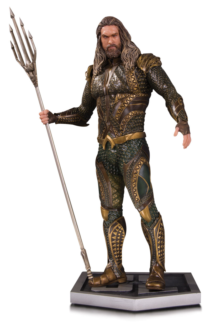JUSTICE LEAGUE MOVIE STATUES: AQUAMAN, THE FLASH AND WONDER WOMAN