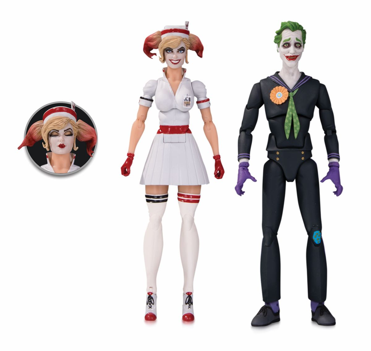 DC DESIGNER SERIES: ANT LUCIA BOMBSHELLS NURSE HARLEY AND THE JOKER ACTION FIGURE TWO-PACK
