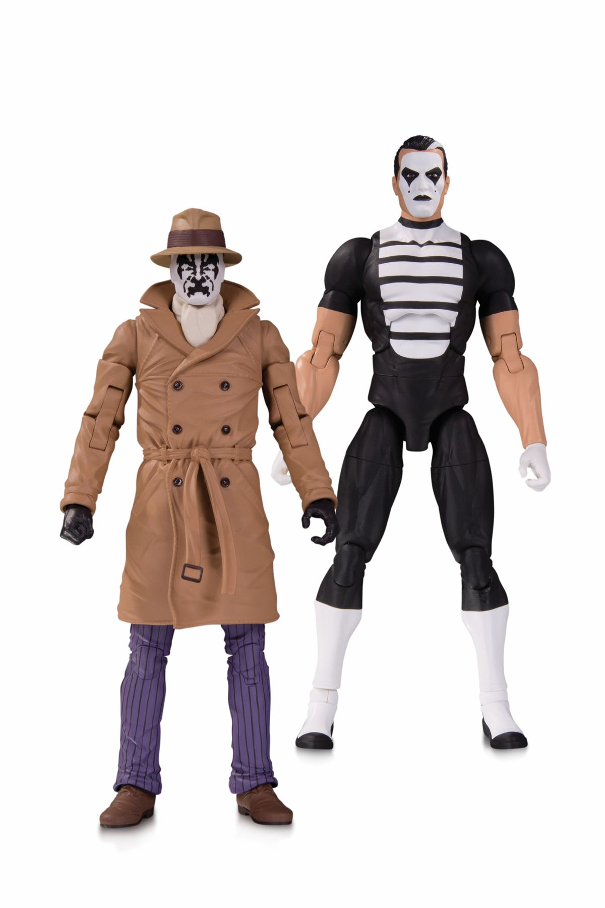 DOOMSDAY CLOCK RORSCHACH AND MIME ACTION FIGURE TWO-PACK