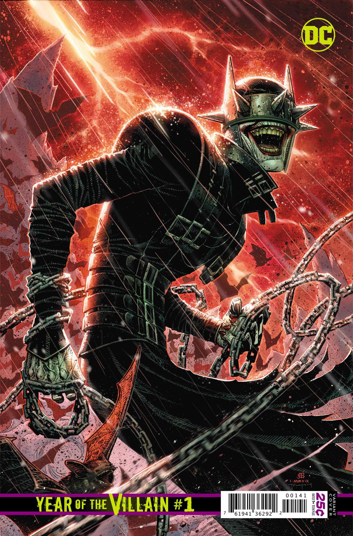 DC's Year of the Villain #1 The Batman Who Laughs variant cover