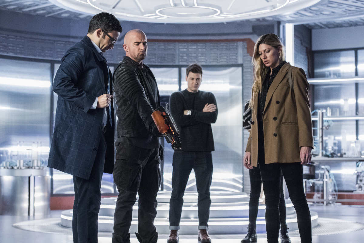 Adam Tsekhman as Agent Gary Green, Dominic Purcell as Mick Rory/Heatwave, Nick Zano as Nate Heywood/Steel and Jes Macallan as Ava Sharpe