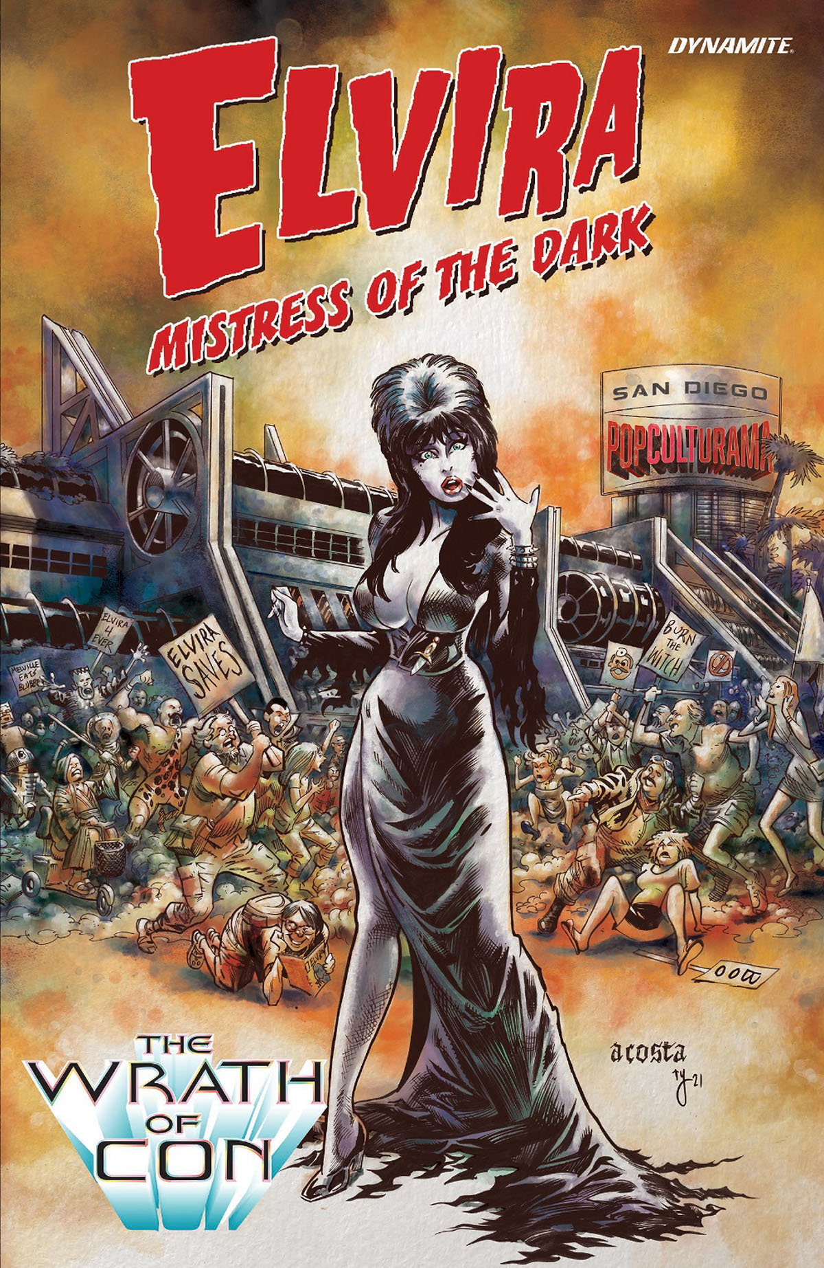 Elvira: The Wrath of Con #1 Cover by Dave Acosta