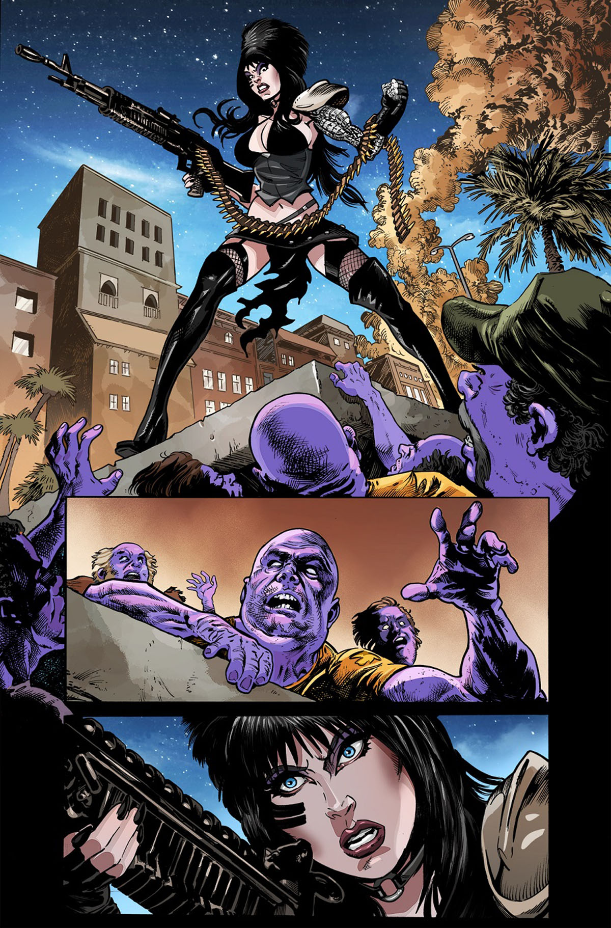 Elvira: The Wrath of Con #1 page 1 by Dave Acosta