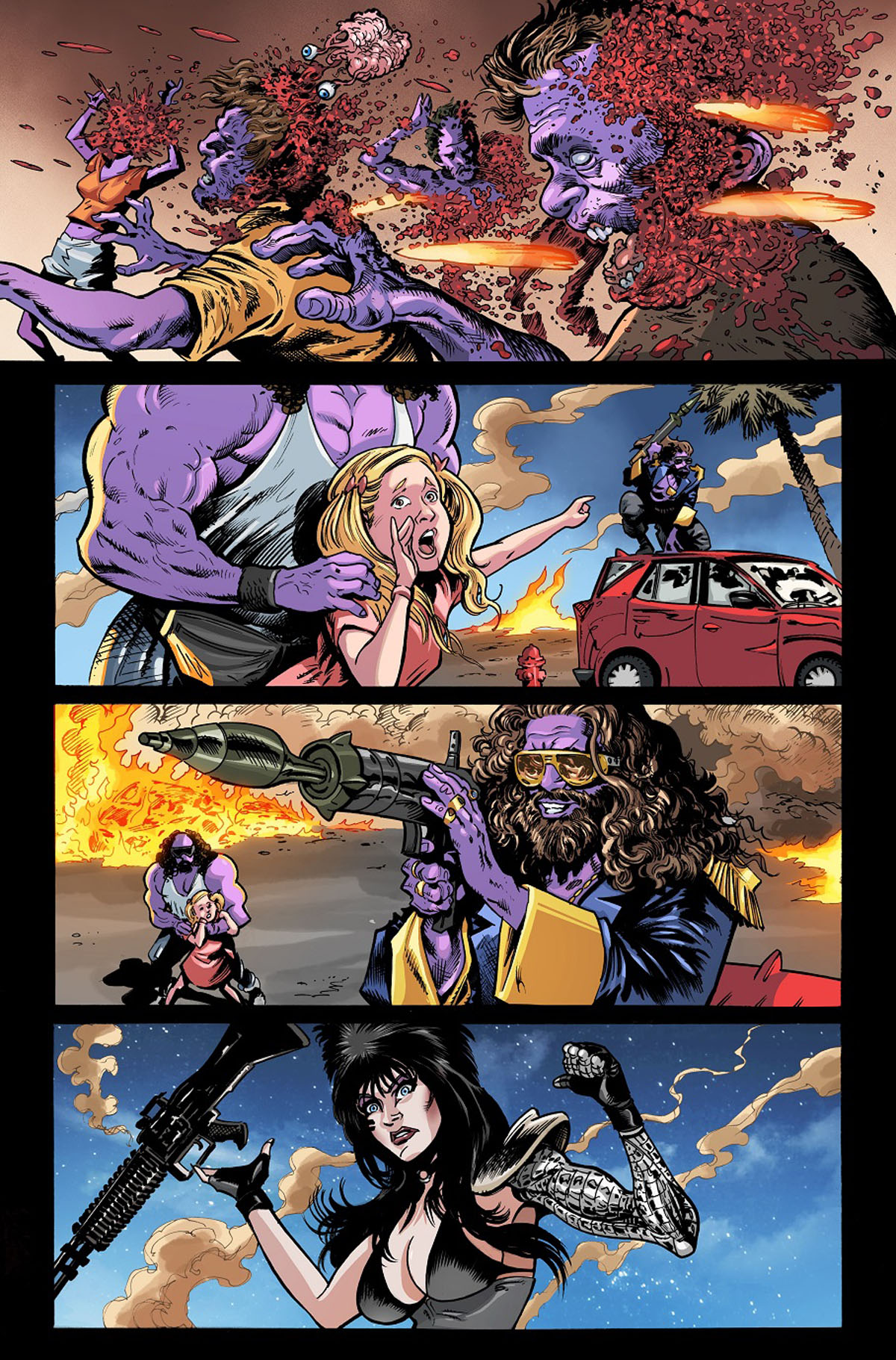 Elvira: The Wrath of Con #1 page 2 by Dave Acosta