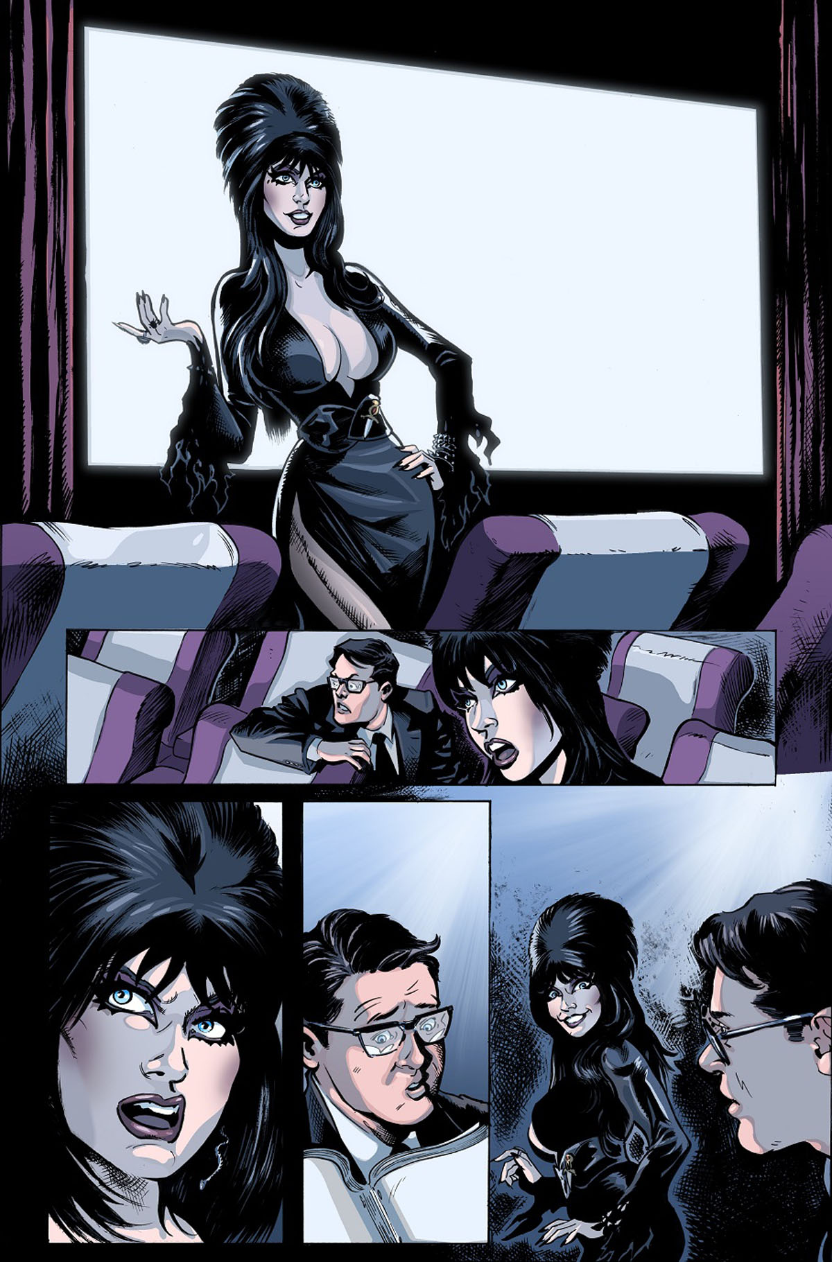 Elvira: The Wrath of Con #1 page 4 by Dave Acosta