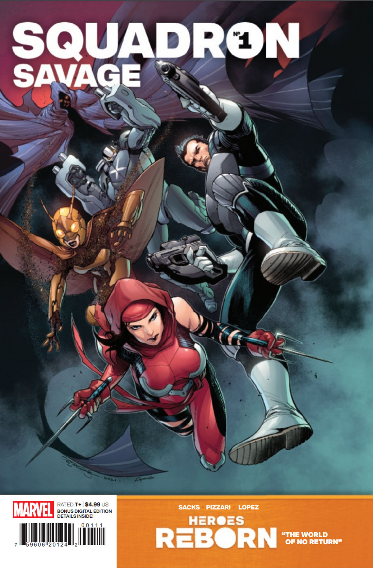 Heroes Reborn: Squadron Savage #1 cover