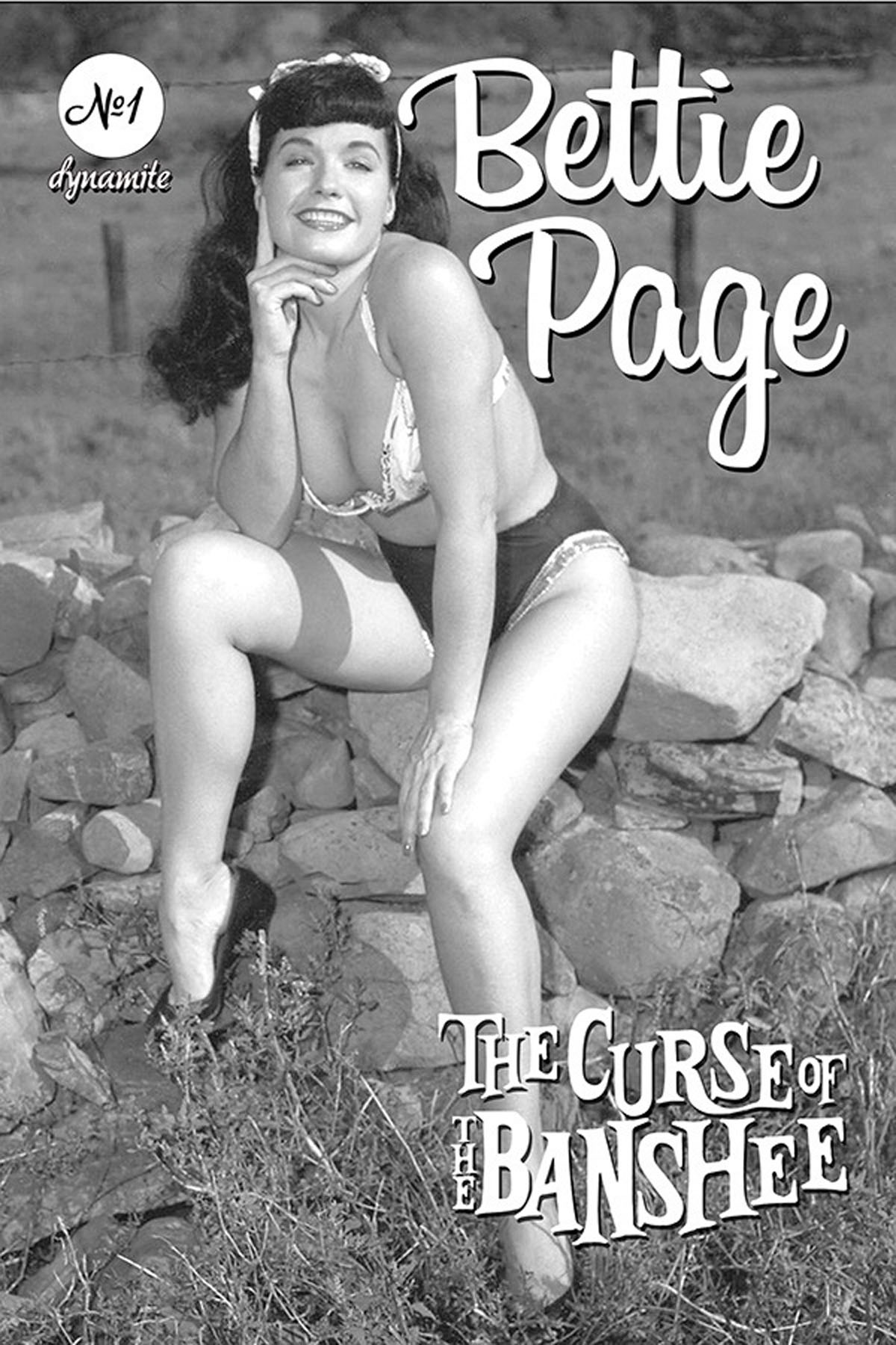 Bettie Page and the Curse of the Banshee #1 cover E Bettie Page photo