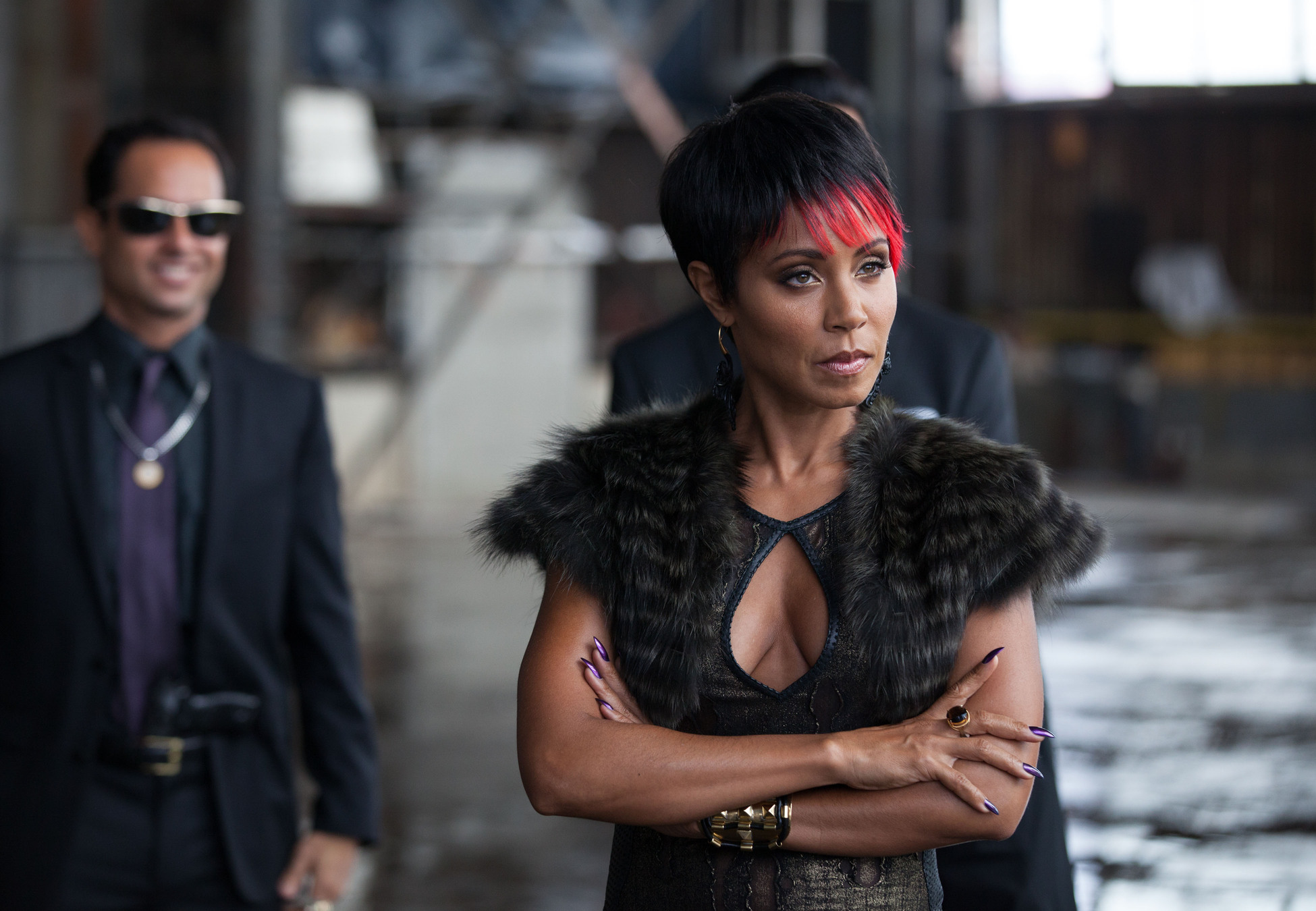 """GOTHAM: Fish (Jada Pinkett Smith) meets with business associates in the """"Viper"""" episode of GOTHAM airing Monday, Oct. 20 (8:00-9:00 PM ET/PT) on FOX. ©2014 Fox Broadcasting Co. Cr: Jessica Miglio/FOX"""