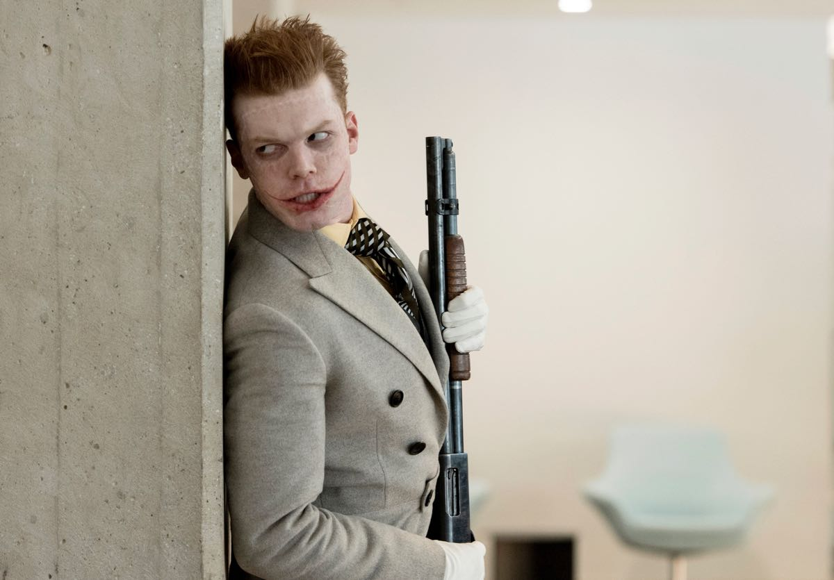 """GOTHAM: Guest star Cameron Monaghan in the """"A Dark Knight: Mandatory Brunch Meeting"""" episode of GOTHAM airing Thursday, April 5 (8:00-9:00 PM ET/PT) on FOX. ©2018 Fox Broadcasting Co. Cr: FOX"""