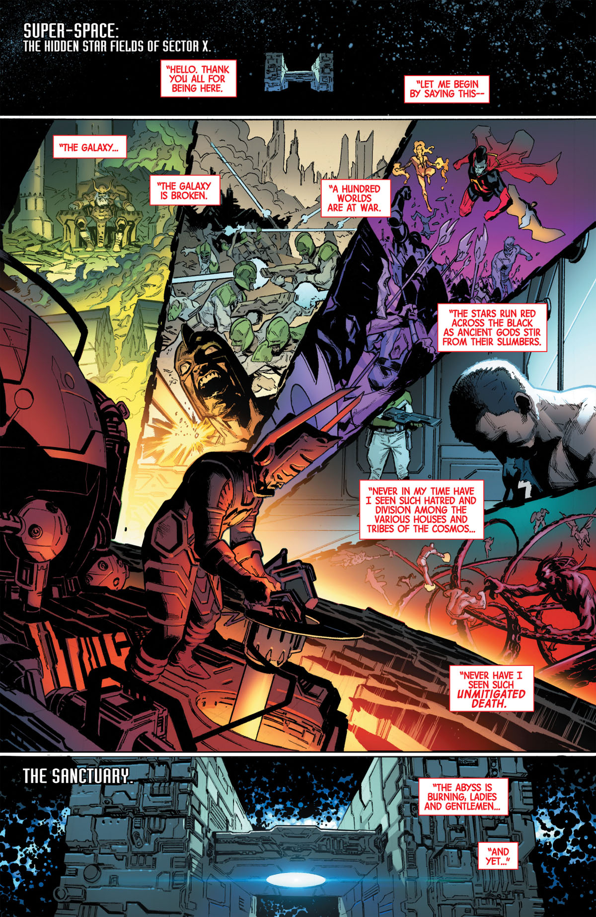 Guardians of the Galaxy #1 page 1